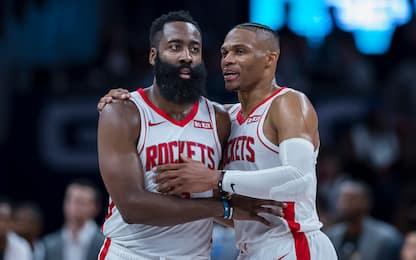 Harden-Westbrook preoccupati dalle scelte Rockets