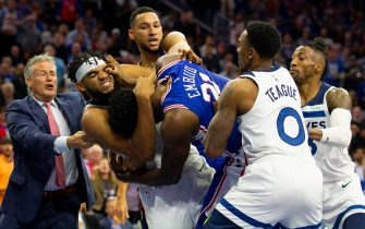 Karl-Anthony Towns e Joel Embiid