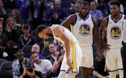 Golden State nei guai: mano rotta per Curry. VIDEO