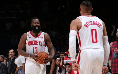 Harden-Westbrook, la coppia più prolifica all-time
