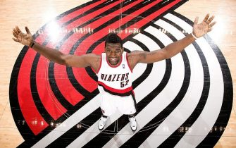 PORTLAND - MARCH 5: Greg Oden of the Portland Trail Blazers poses during a photo shoot at the Rose Garden Arena in Portland, Oregon.  NOTE TO USER:  User expressly acknowledges and agrees that, by downloading and/or using this photograph, User is consenting to the terms and conditions of the Getty Images License Agreement. Mandatory Copyright Notice: Copyright 2008 NBAE  (Photo by Sam Forencich/NBAE via Getty Images)