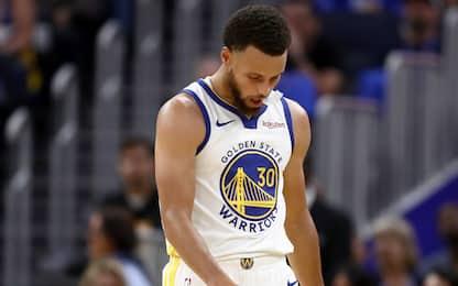 Warriors, brutte notizie: Curry out almeno 3 mesi