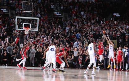 Il pazzo finale tra Philadelphia e Portland. VIDEO