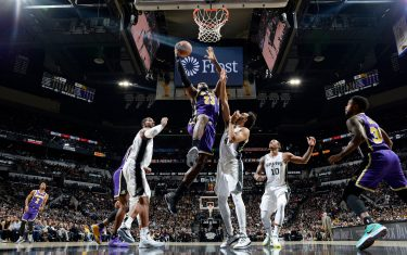 SAN ANTONIO, TX - NOVEMBER 3: LeBron James #23 of the Los Angeles Lakers shoots the ball against the San Antonio Spurs on November 3, 2019 at the AT&T Center in San Antonio, Texas. NOTE TO USER: User expressly acknowledges and agrees that, by downloading and or using this photograph, user is consenting to the terms and conditions of the Getty Images License Agreement. Mandatory Copyright Notice: Copyright 2019 NBAE (Photos by Logan Riely/NBAE via Getty Images)