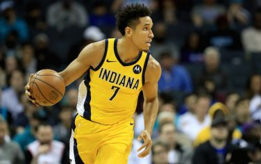 CHARLOTTE, NORTH CAROLINA - NOVEMBER 05: Malcolm Brogdon #7 of the Indiana Pacers during their game at Spectrum Center on November 05, 2019 in Charlotte, North Carolina. NOTE TO USER: User expressly acknowledges and agrees that, by downloading and or using this photograph, User is consenting to the terms and conditions of the Getty Images License Agreement. (Photo by Streeter Lecka/Getty Images)