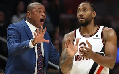 """Clippers, 50.000 $ di multa. Leonard: """"Scioccato"""""""