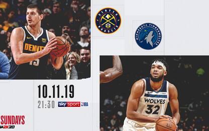 NBA Sundays, Minnesota-Denver in diretta su Sky