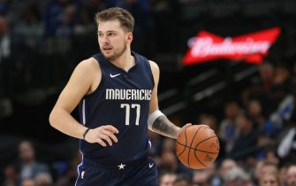 DALLAS, TEXAS - NOVEMBER 08:  Luka Doncic #77 of the Dallas Mavericks at American Airlines Center on November 08, 2019 in Dallas, Texas.  NOTE TO USER: User expressly acknowledges and agrees that, by downloading and or using this photograph, User is consenting to the terms and conditions of the Getty Images License Agreement. (Photo by Ronald Martinez/Getty Images)