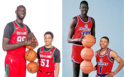 Tacko Fall e Tremont Waters come Bol&Bogues. FOTO