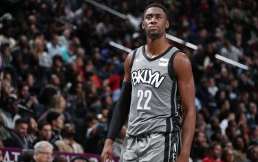 BROOKLYN, NY - NOVEMBER 4: Caris LeVert #22 of the Brooklyn Nets looks on during the game against the New Orleans Pelicans on November 4, 2019 at Barclays Center in Brooklyn, New York. NOTE TO USER: User expressly acknowledges and agrees that, by downloading and or using this Photograph, user is consenting to the terms and conditions of the Getty Images License Agreement. Mandatory Copyright Notice: Copyright 2019 NBAE (Photo by Nathaniel S. Butler/NBAE via Getty Images)