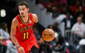 ATLANTA, GA - OCTOBER 26: Trae Young #11 of the Atlanta Hawks handles the ball during a game against the Orlando Magic at State Farm Arena on October 26, 2019 in Atlanta, Georgia. NOTE TO USER: User expressly acknowledges and agrees that, by downloading and or using this photograph, User is consenting to the terms and conditions of the Getty Images License Agreement. (Photo by Carmen Mandato/Getty Images)