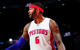 DETROIT, MI -  DECEMBER 9: Josh Smith #6 of the Detroit Pistons during the game against the Portland Trail Blazers on December 9, 2014 at Palace of Auburn Hills in Detroit, Michigan. NOTE TO USER: User expressly acknowledges and agrees that, by downloading and or using this Photograph, user is consenting to the terms and conditions of the Getty Images License Agreement. Mandatory Copyright Notice: Copyright 2014 NBAE (Photo by Allen Einstein/NBAE via Getty Images)