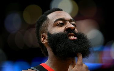 NEW ORLEANS, LOUISIANA - NOVEMBER 11: James Harden #13 of the Houston Rockets stands on the court during a NBA game against the New Orleans Pelicans at the Smoothie King Center on November 11, 2019 in New Orleans, Louisiana. NOTE TO USER: User expressly acknowledges and agrees that, by downloading and or using this photograph, User is consenting to the terms and conditions of the Getty Images License Agreement. (Photo by Sean Gardner/Getty Images)