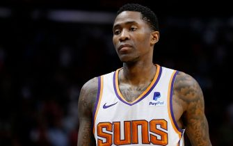 MIAMI, FLORIDA - FEBRUARY 25:  Jamal Crawford #11 of the Phoenix Suns looks on against the Miami Heat during the second half at American Airlines Arena on February 25, 2019 in Miami, Florida. NOTE TO USER: User expressly acknowledges and agrees that, by downloading and or using this photograph, User is consenting to the terms and conditions of the Getty Images License Agreement. (Photo by Michael Reaves/Getty Images)