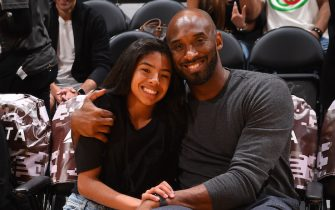LOS ANGELES, CA - NOVEMBER 17: NBA legend, Kobe Bryant attends a game between the Los Angeles Lakers and the Atlanta Hawks on November 17, 2019 at STAPLES Center in Los Angeles, California. NOTE TO USER: User expressly acknowledges and agrees that, by downloading and/or using this Photograph, user is consenting to the terms and conditions of the Getty Images License Agreement. Mandatory Copyright Notice: Copyright 2019 NBAE (Photo by Andrew D. Bernstein/NBAE via Getty Images)