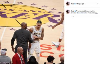 Kyle Kuzma e Kobe Bryant
