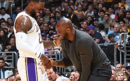 """LeBron e l'amore per Kobe: """"Surreale averlo qui"""""""