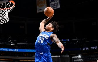 ORLANDO, FL - NOVEMBER 17: Markelle Fultz #20 of the Orlando Magic shoots the ball against the Washington Wizards on November 17, 2019 at Amway Center in Orlando, Florida. NOTE TO USER: User expressly acknowledges and agrees that, by downloading and or using this photograph, User is consenting to the terms and conditions of the Getty Images License Agreement. Mandatory Copyright Notice: Copyright 2019 NBAE (Photo by Fernando Medina/NBAE via Getty Images)