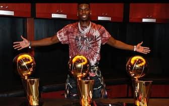 Paul Pogba a Miami coi trofei