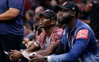 MIAMI, FLORIDA - NOVEMBER 16: Paul Pogba of Manchester United looks on prior to the game between the Miami Heat and the New Orleans Pelicans at American Airlines Arena on November 16, 2019 in Miami, Florida. NOTE TO USER: User expressly acknowledges and agrees that, by downloading and/or using this photograph, user is consenting to the terms and conditions of the Getty Images License Agreement. (Photo by Michael Reaves/Getty Images)
