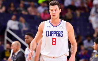 PHOENIX, AZ - JANUARY 4: Danilo Gallinari #8 of the LA Clippers looks on during the game against the Phoenix Suns on January 4, 2019 at Talking Stick Resort Arena in Phoenix, Arizona. NOTE TO USER: User expressly acknowledges and agrees that, by downloading and or using this photograph, user is consenting to the terms and conditions of the Getty Images License Agreement. Mandatory Copyright Notice: Copyright 2019 NBAE (Photo by Barry Gossage/NBAE via Getty Images)