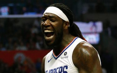 LOS ANGELES, CALIFORNIA - NOVEMBER 18:  Montrezl Harrell #5 of the Los Angeles Clippers reacts after a dunk during the second half against the Oklahoma City Thunder at Staples Center on November 18, 2019 in Los Angeles, California. NOTE TO USER: User expressly acknowledges and agrees that, by downloading and or using this photograph, User is consenting to the terms and conditions of the Getty Images License Agreement. (Photo by Katharine Lotze/Getty Images)