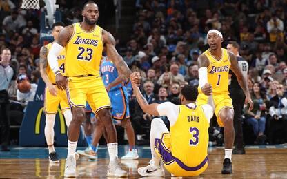 Lakers, buone notizie: tutti negativi al Covid-19