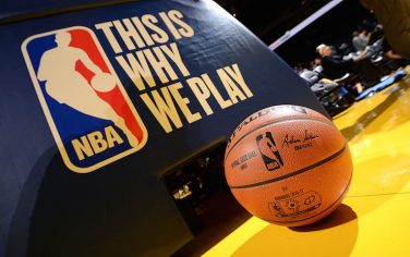 OAKLAND, CA - DECEMBER 1: View of the game ball and This is Why We Play logo before the game between the Golden State Warriors and the Houston Rockets on December 1, 2016 at ORACLE Arena in Oakland, California. NOTE TO USER: User expressly acknowledges and agrees that, by downloading and/or using this photograph, user is consenting to the terms and conditions of Getty Images License Agreement. Mandatory Copyright Notice: Copyright 2016 NBAE (Photo by Noah Graham/NBAE via Getty Images)