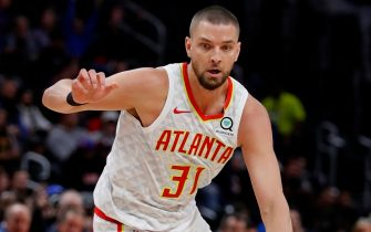DETROIT, MI - NOVEMBER 22: Chandler Parsons #31 of the Atlanta Hawks dribbles in the first half against the Detroit Pistons at Little Caesars Arena on November 22, 2019 in Detroit, Michigan. Detroit defeated Atlanta 128-103. NOTE TO USER: User expressly acknowledges and agrees that, by downloading and or using this photograph, User is consenting to the terms and conditions of the Getty Images License Agreement (Photo by Rick Osentoski/Getty Images)
