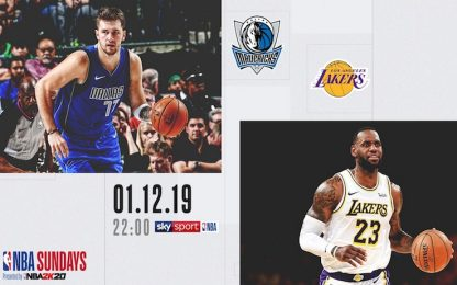 NBA Sundays: Doncic sfida LeBron alle 22.00 su Sky