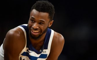 MINNEAPOLIS, MINNESOTA - NOVEMBER 20: Andrew Wiggins #22 of the Minnesota Timberwolves looks on during the game against the Utah Jazz at Target Center on November 20, 2019 in Minneapolis, Minnesota. NOTE TO USER: User expressly acknowledges and agrees that, by downloading and or using this Photograph, user is consenting to the terms and conditions of the Getty Images License Agreement (Photo by Hannah Foslien/Getty Images)
