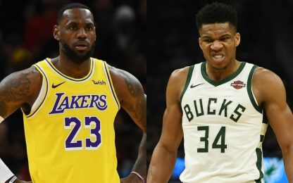 Lakers e Bucks, partenza e record da 10 e lode