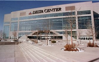 SALT LAKE CITY, UNITED STATES:  This 1998, winter file photo shows the Delta Center where the major ice events will be held for the 2002 Winter Olympics games in Salt Lake City,UT.   AFP PHOTO/George FREY (Photo credit should read GEORGE FREY/AFP/Getty Images)