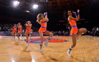 NEW YORK - JANUARY 24: The New York Knicks dance team performs during the game against the Charlotte Bobcats on January 24, 2014 at Madison Square Garden in New York City. NOTE TO USER: User expressly acknowledges and agrees that, by downloading and or using this photograph, User is consenting to the terms and conditions of the Getty Images License Agreement. Mandatory Copyright Notice: Copyright 2014 NBAE  (Photo by David Dow NBAE via Getty Images)