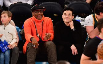 NEW YORK, NY - NOVEMBER 20:  Spike Lee and Rami Malek attend the Portland Trail Blazers vs New York Knicks game at Madison Square Garden on November 20, 2018 in New York City.  (Photo by James Devaney/Getty Images)