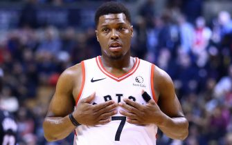 TORONTO, ON - DECEMBER 03:  Kyle Lowry #7 of the Toronto Raptors looks on during the first half of an NBA game against the Miami Heat at Scotiabank Arena on December 03, 2019 in Toronto, Canada.  NOTE TO USER: User expressly acknowledges and agrees that, by downloading and or using this photograph, User is consenting to the terms and conditions of the Getty Images License Agreement.  (Photo by Vaughn Ridley/Getty Images)