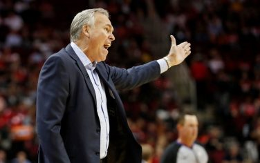 HOUSTON, TX - OCTOBER 24:  Head coach Mike D'Antoni of the Houston Rockets reacts in the first half against the Milwaukee Bucks at Toyota Center on October 24, 2019 in Houston, Texas.  NOTE TO USER: User expressly acknowledges and agrees that, by downloading and or using this photograph, User is consenting to the terms and conditions of the Getty Images License Agreement.  (Photo by Tim Warner/Getty Images)