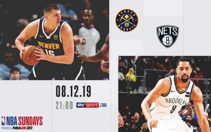 NBA Sundays: sfida Brooklyn-Denver su Sky Sport