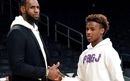 Bronny tira meglio di papà: e LeBron lo sa. VIDEO