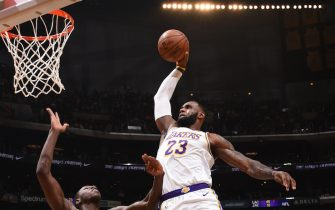 LOS ANGELES, CA - DECEMBER 8: LeBron James #23 of the Los Angeles Lakers shoots the ball against the Minnesota Timberwolves on December 8, 2019 at STAPLES Center in Los Angeles, California. NOTE TO USER: User expressly acknowledges and agrees that, by downloading and/or using this Photograph, user is consenting to the terms and conditions of the Getty Images License Agreement. Mandatory Copyright Notice: Copyright 2019 NBAE (Photo by Adam Pantozzi/NBAE via Getty Images)