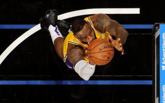 ORLANDO, FL - DECEMBER 11: LeBron James #23 of the Los Angeles Lakers shoots the ball against the Orlando Magic on December 11, 2019 at Amway Center in Orlando, Florida. NOTE TO USER: User expressly acknowledges and agrees that, by downloading and or using this photograph, User is consenting to the terms and conditions of the Getty Images License Agreement. Mandatory Copyright Notice: Copyright 2019 NBAE (Photo by Fernando Medina/NBAE via Getty Images)