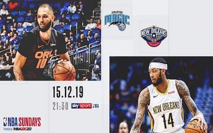NBA Sundays: New Orleans-Orlando su Sky Sport