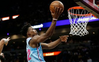 MIAMI, FLORIDA - DECEMBER 13:  Jimmy Butler #22 of the Miami Heat attempts a layup against the Los Angeles Lakers during the second half at American Airlines Arena on December 13, 2019 in Miami, Florida. NOTE TO USER: User expressly acknowledges and agrees that, by downloading and/or using this photograph, user is consenting to the terms and conditions of the Getty Images License Agreement (Photo by Michael Reaves/Getty Images)