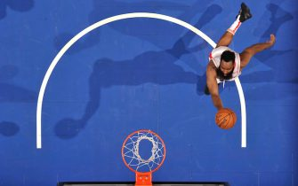 ORLANDO, FL - DECEMBER 13: James Harden #13 of the Houston Rockets shoots the ball against the Orlando Magic on December 13, 2019 at Amway Center in Orlando, Florida. NOTE TO USER: User expressly acknowledges and agrees that, by downloading and or using this photograph, User is consenting to the terms and conditions of the Getty Images License Agreement. Mandatory Copyright Notice: Copyright 2019 NBAE (Photo by Fernando Medina/NBAE via Getty Images)