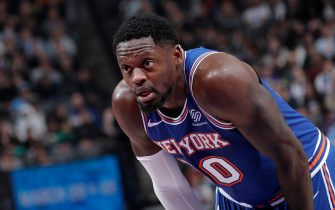 SACRAMENTO, CA - DECEMBER 13: Julius Randle #30 of the New York Knicks looks on during the game against the Sacramento Kings on December 13, 2019 at Golden 1 Center in Sacramento, California. NOTE TO USER: User expressly acknowledges and agrees that, by downloading and or using this Photograph, user is consenting to the terms and conditions of the Getty Images License Agreement. Mandatory Copyright Notice: Copyright 2019 NBAE (Photo by Rocky Widner/NBAE via Getty Images)