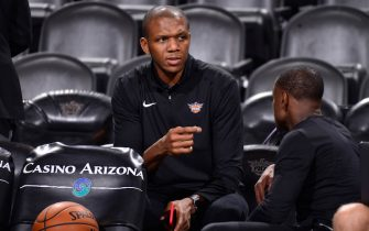 PHOENIX, AZ - DECEMBER 15:  VP of Basketball Operations James Jones of the Phoenix Suns looks on before the game against the Minnesota Timberwolves on December 15, 2018 at Talking Stick Resort Arena in Phoenix, Arizona. NOTE TO USER: User expressly acknowledges and agrees that, by downloading and or using this photograph, user is consenting to the terms and conditions of the Getty Images License Agreement. Mandatory Copyright Notice: Copyright 2018 NBAE (Photo by Barry GossageNBAE via Getty Images)