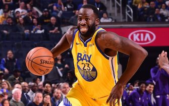 SAN FRANCISCO, CA - DECEMBER 15: Draymond Green #23 of the Golden State Warriors drives to the basket against the Sacramento Kings on December 15, 2019 at Chase Center in San Francisco, California. NOTE TO USER: User expressly acknowledges and agrees that, by downloading and or using this photograph, user is consenting to the terms and conditions of Getty Images License Agreement. Mandatory Copyright Notice: Copyright 2019 NBAE (Photo by Noah Graham/NBAE via Getty Images)