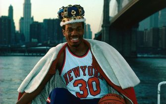 NEW YORK - 1984:  Bernard King #30 of the New York Knicks poses for a 1984 portrait in New York, New York. NOTE TO USER: User expressly acknowledges and agrees that, by downloading and or using this photograph, User is consenting to the terms and conditions of the Getty Images License Agreement. Mandatory copyright notice: Copyright NBAE 2002 (Photo by Noren Trotman/NBAE via Getty Images)