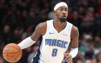 PORTLAND, OREGON - DECEMBER 20: Terrence Ross #8 of the Orlando Magic dribbles with the ball in the third quarter against the Portland Trail Blazers during their game at Moda Center on December 20, 2019 in Portland, Oregon. NOTE TO USER: User expressly acknowledges and agrees that, by downloading and or using this photograph, User is consenting to the terms and conditions of the Getty Images License Agreement (Photo by Abbie Parr/Getty Images)