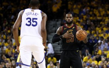in Game 1 of the 2018 NBA Finals at ORACLE Arena on May 31, 2018 in Oakland, California. NOTE TO USER: User expressly acknowledges and agrees that, by downloading and or using this photograph, User is consenting to the terms and conditions of the Getty Images License Agreement.